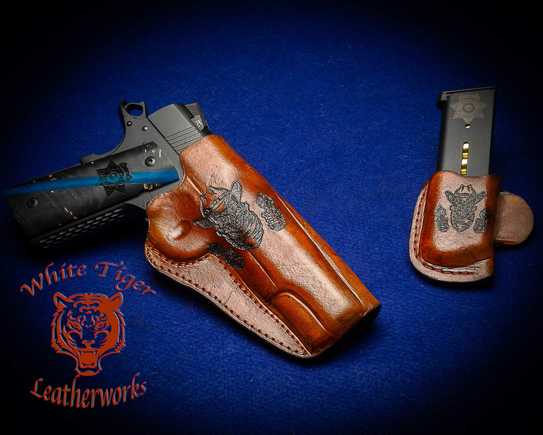 1911 Tucson Mall Holster Custom Engraved Laser Over item handling ☆