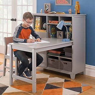 مارتا استوارت سیستم زندگی و یادگیری رسانه های کودکان و نوجوانان با میز و صندلی داخلی (خاکستری) - چوبی Cubby Storage Storage و میز مطالعه رایانه برای مدرسه خانگی