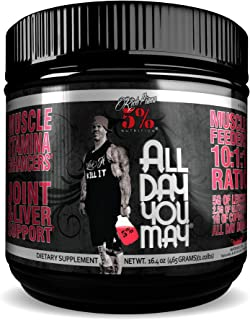 Rich Piana 5% Nutrition All Day You May BCAA & Joint Recovery Drink (Watermelon)