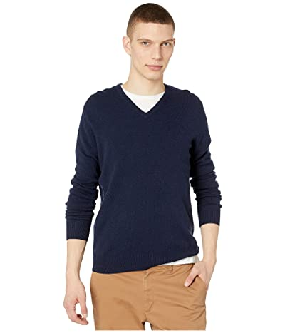 J.Crew Everyday Cashmere V-Neck Sweater (Navy) Men