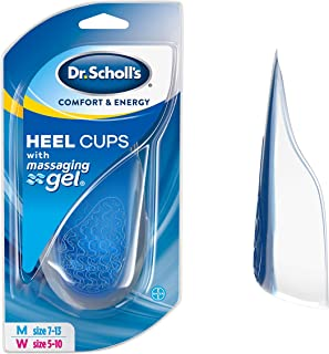 Dr. Scholl's HEEL CUPS with Massaging Gel (One Size) // Heel Protection with All-Day Shock Absorption to Relieve and Prevent Heel Pain