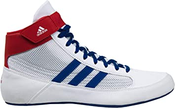 red white and blue adidas shoes