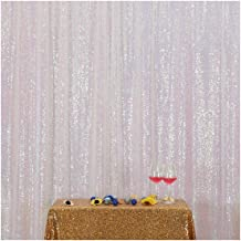 Poise3EHome 5FT x 7FT Sequin Photography Backdrop Curtain for Party Decoration, Iridescent