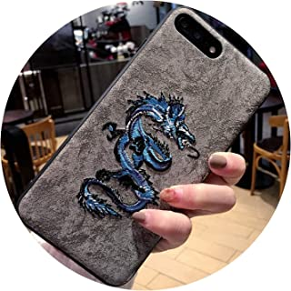 Embroidery Leather Phone Case for iPhone 8 Plus X XR XS Max 7 6 6S Plus Phone Coque for Samsung S9 S8 Plus note8 s9plus s9+,30,for iPhone 6 6S