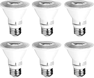 Hyperikon PAR20 LED Bulb Dimmable 8W (50W Equivalent) 3000K, Spot Light Bulb, Medium Base E26, UL, Energy Star, 6 Pack