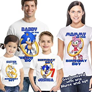 Sonic Birthday Shirt, Sonic the Hedgehog Birthday, Custom Sonic Shirts for Family, Personalized shirts, Sonic party
