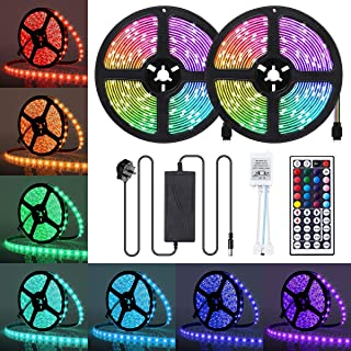 LED Strip Lights, JR INTL 32.8FT / 10m 300 LED RGB LED Light Strip 5050 LED Tape Lights, Color Changing LED Strip Lights w...