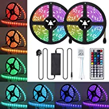 LED Strip Lights, JR INTL 32.8FT / 10m 300 LED RGB LED Light Strip 5050 LED Tape Lights, Color Changing LED Strip Lights w...