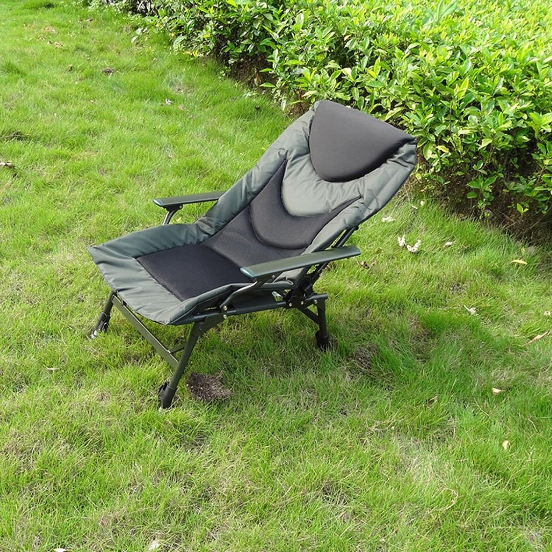 Zcxbhd Stühle Einstellbar Liege Ergonomisch Mesh-Matte Sessel Falten Bett Zum Draussen Garten Warten Salon (Armeegrün)