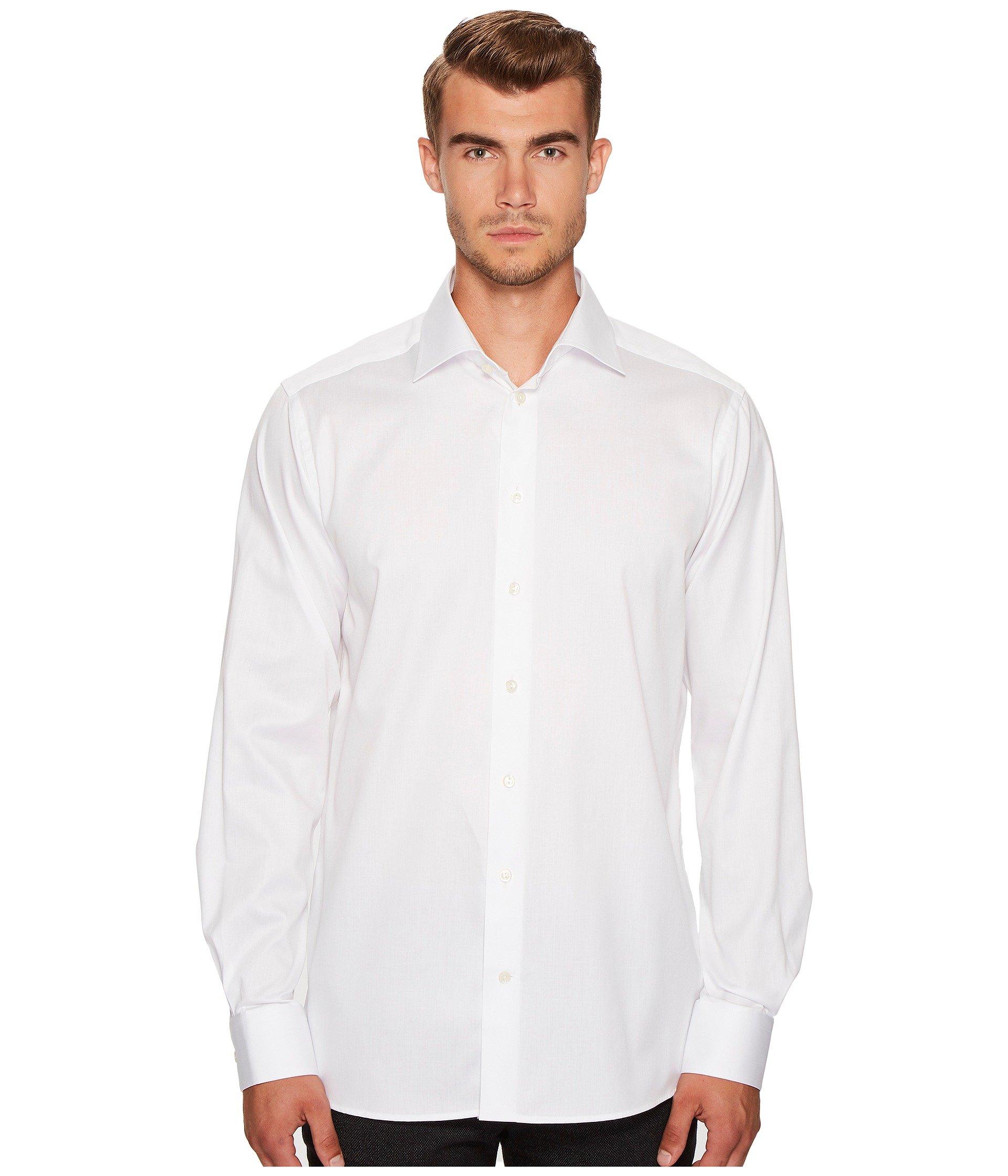 Signature Shirt Twill Eton White Contemporary Fit xgZwAR