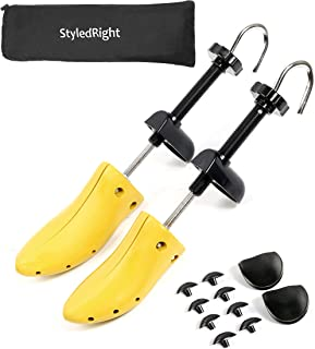 StyledRight Unisex 2-Way Shoe Stretcher For Men & Women - Shoe Widener Stretch Length & Wide Feet