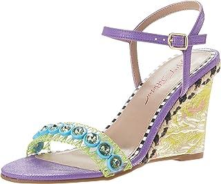 Blue by Betsey Johnson Women's KODI Espadrille Wedge Sandal, Purple Multi, 9.5