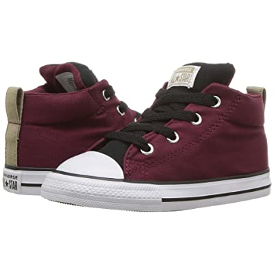 Converse Kids Chuck Taylor(r) All Star(r) Street Mid (Infant/Toddler) (Dark Burgundy/Black/White) Boy