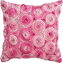 Avarada 16x16 Inch (40x40 cm) Triple Colour Floral Bouquet Decorative Throw Pillow Covers Case Cushion Cover for Sofa Couc...