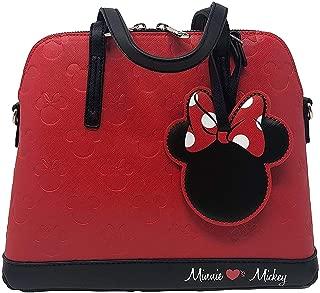 x Disney Minnie Mouse Loves Mickey Pebbled Embossed Handbag