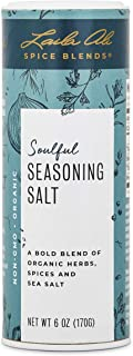 Laila Ali –Soulful Seasoning Salt- 100% Organic Fine Blend of Herbs, Spices & Sea Salt Non-GMO, Gluten-Free, Vegan, Paleo & Keto Friendly All Purpose Seasoning- 6 oz