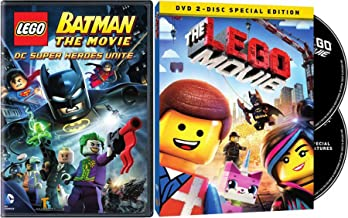 Black LEGO Destructor Batman DC Super Heroes Unite DVD + The Lego Special Edition Movie Double Feature 2 Pack