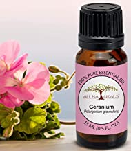 All Naturals Geranium Essential Oil 15ml 100% Pure for Massage, Relaxation, Skin Cooling & Natural Perfumes