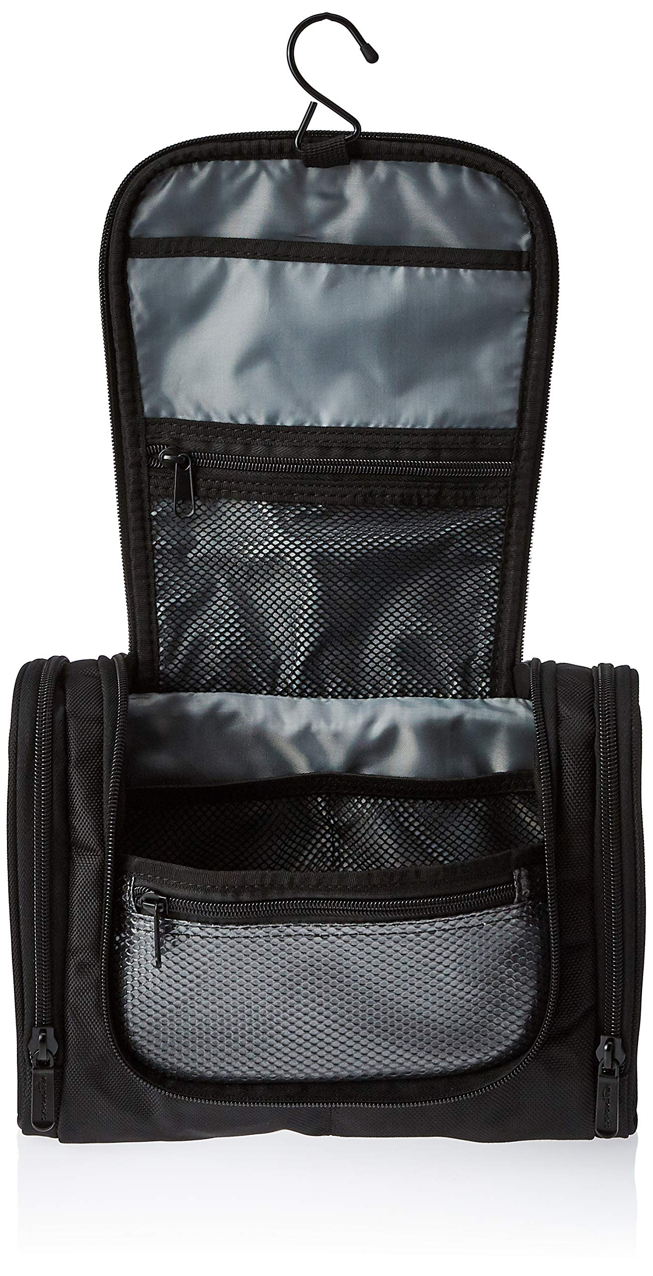 Amazon Basics Hanging, Travel Toiletry Bag Organizer, Shower Dopp Kit, Black