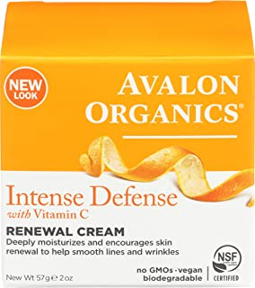 Avalon Organics, Vitamin C Renewal, Cream, 2 oz (57 g)