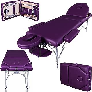 Massage Imperial® Professional Lightweight Purple Caversham Aluminium Portable Massage Table Couch 7cm/3