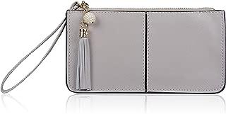 Befen Women's Leather Wristlet Clutch Cell Phone Wallet, Multi Card Organizer Wallet Purse