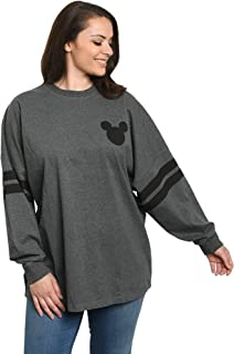 Jersey Womens Mickey Minnie Mouse Long Sleeve