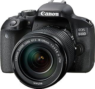 Canon EOS 800D EF-S 18-135mm F3.5-5.6 IS STM lens - 24.2 MP, DSLR Camera, Black
