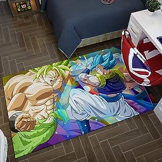 GOOCO Super Saiyan Goku Bataille Tapis 3D Dragon Ball Z Antidérapant Anime Salon Chambre Étude Tapis Doux, Super Saiyan So...