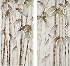 Madison Park Bamboo Forest Printed Canvas with 30% Hand Brush Embellishment Set of 2 See below MP95C-0161