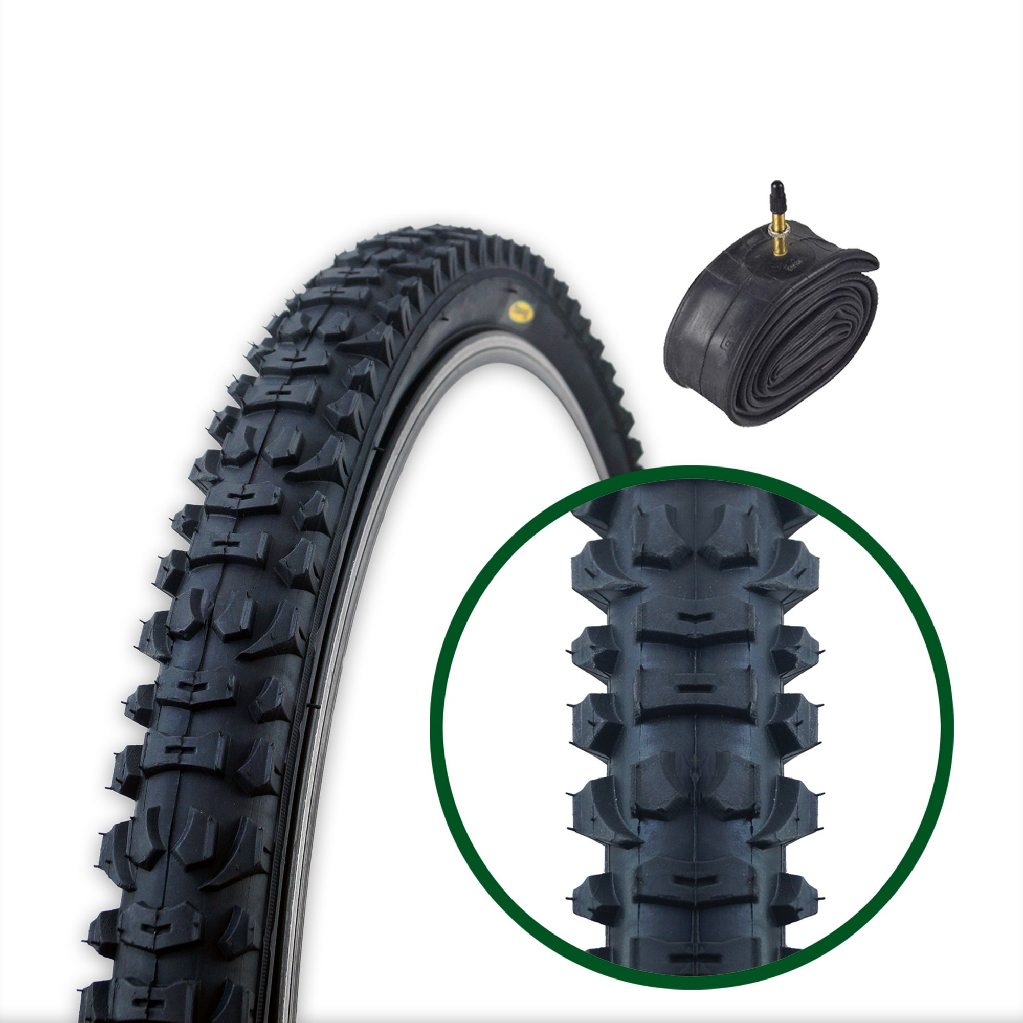Fincci Plegable Neumáticos de Bicicleta Híbridos MTB 26 x 1,95 y ...