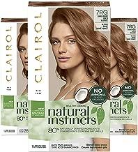 Clairol Natural Instincts Semi-Permanent, 7RG Dark Rose Gold Blonde, Rose Gold, 3 Count