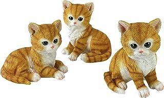 Design Toscano QM1241550 Tabby Kitten Triplets, Baby Cat Statues, Full Color