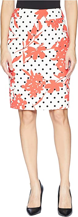 Printed Slim Skirt