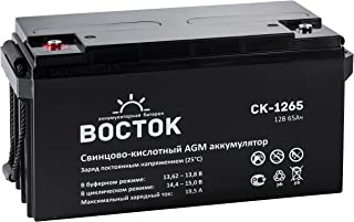 Bockok 12V 65 Amp NP12 65Ah Rechargeable Lead Acid Wheelchair Storage Solar Wind UPS Battery with Button Style Terminals