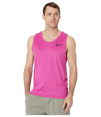 Nike Top Tank Hyper Dry (Noble Red/Fire Pink/Heather/Black) Men