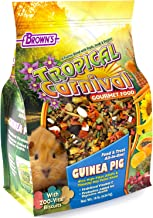 F.M. Brown's Tropical Carnival Gourmet Guinea Pig Food with Alfalfa and Timothy Hay Pellets - Vitamin-Nutrient Fortified D...