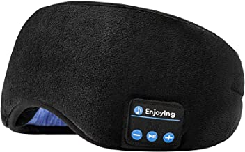 Voerou Sleep Headphones Wireless Bluetooth Sleep Eye Mask Music and Ultra Thin Speakers Perfect for Sleeping, Air Travel,M...