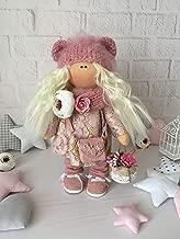 Handmade Pink Doll with Bag Tilda Doll Interior decor doll Fabric doll Cloth Doll