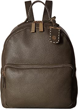 Tommy Hilfiger - Julia Pebble Leather Dome Backpack