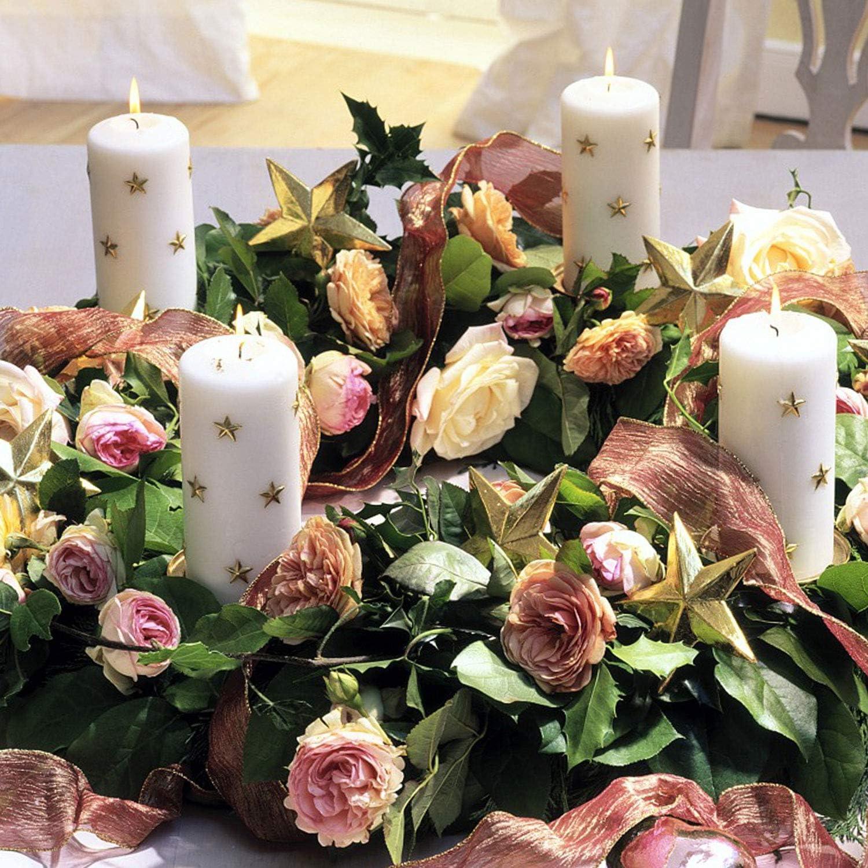 Silber GoMaihe Kerzenhalter Adventskranz 4 St/ück Kerzenpick mit Dorn 8cm Adventskerzenhalter MEHRWEG Kerzenteller f/ür Adventskranz Metall Kerzenstecker f/ür Advent Weihnachts Tisch Deko Hochzeit