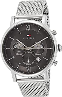 Tommy Hilfiger Mens Quartz Watch, Analog Display and Stainless Steel Strap 1710396