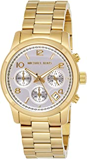 Michael Kors Womens Quartz Watch, Analog Display and Stainless Steel Strap MK5305