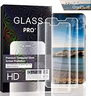 JKPNK OnePlus 6 Screen Protector [2 Pack], Tempered Glass Screen Protector[Anti-Glare] Full Coverage HD Anti-Scratch [Bubble-Free] Screen Protector Compatible with OnePlus 6