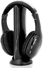 Stereo Wireless Over Ear Headphones – Hi-fi Headphone Professional Black Monitor..