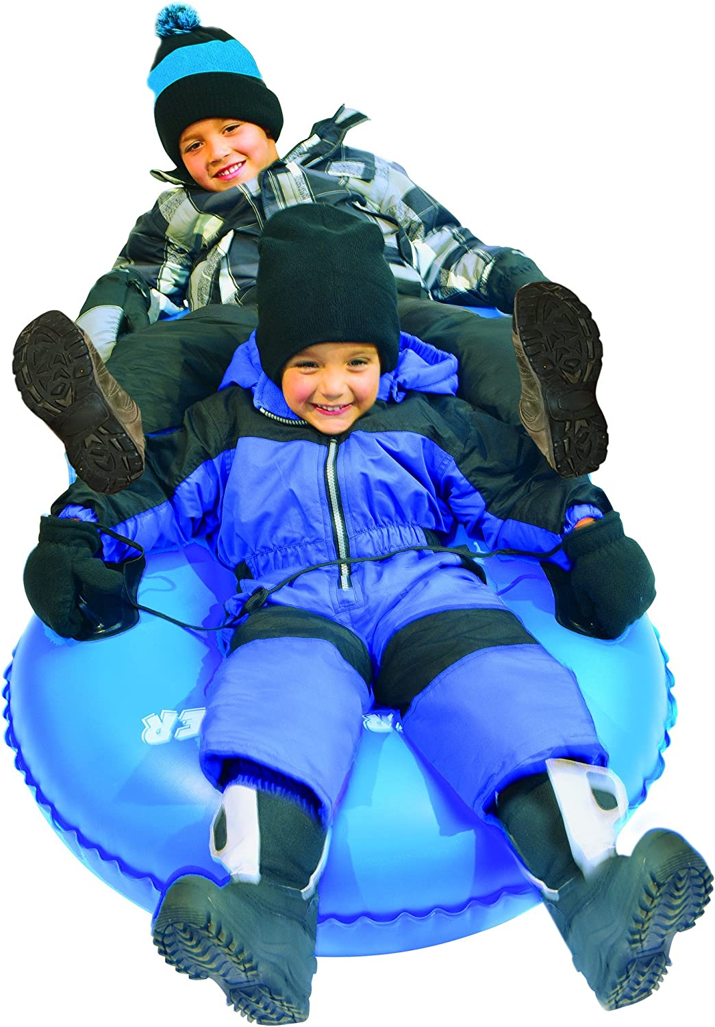 Slippery Racer Airdual Inflatable Snow Tube Sled, bluee
