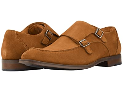 Stacy Adams Balen Double-Monk Strap Loafer (Tan Suede) Men