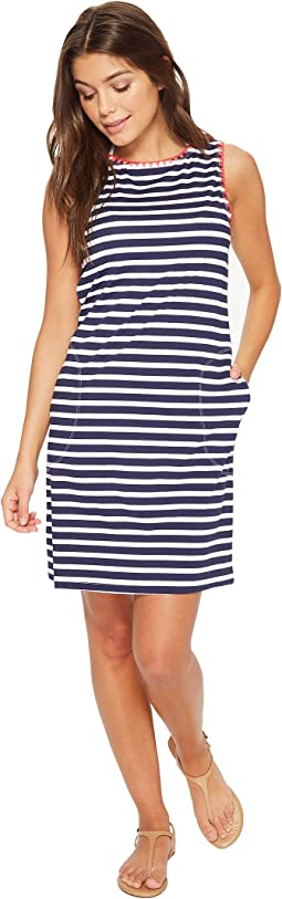Breton Stripe Swim Dress Cover-Up