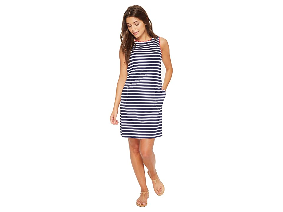 Tommy Bahama Breton Stripe Swim Dress Cover-Up (Mare Navy/White) Women