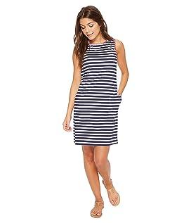 Breton Stripe Swim Dress Cover-Up